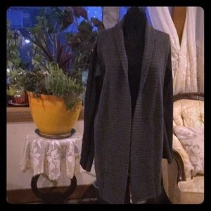 NWT BCBG MaxAzria Wool Cardigan with Faux Leather